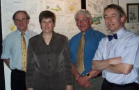 Club Dinner 2001 - Vanessa Lawrence, Director General of the Ordnance Survey - with John Pearce, Colin Flint and Tim Pribul